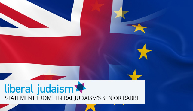 A statement from Liberal Judaism's senior rabbi