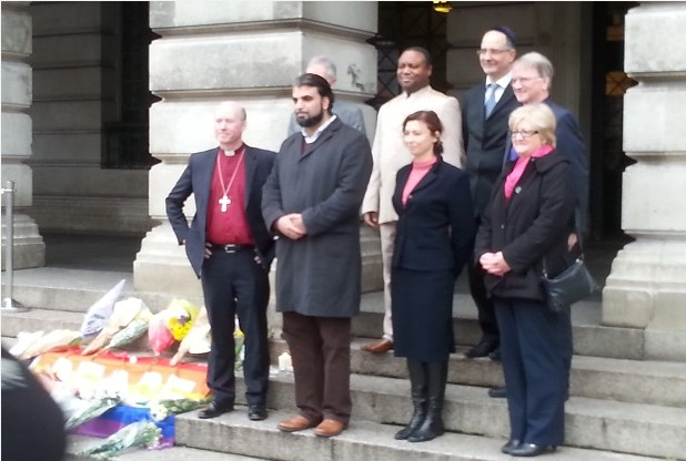 In the light of the recent tragic events in Paris, faith leaders in Nottingham, including Rabbi Tanya,  met in a show of solidarity at the Council House in Nottingham.   The religious leaders called for more community projects in Nottingham to be run by a group of different faiths in the wake of the Paris atrocities.   Read the full article in the Nottingham Post: http://m.nottinghampost.com/Paris-attacks-Nottingham-s-Muslim-Jewish/story-28189776-detail/story.html